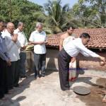 bharathi college foundation laying pooja bya M Narayana Bhat DGM Corp Bank