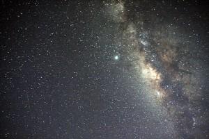 Milky_Way_Galaxy_and_a_meteor