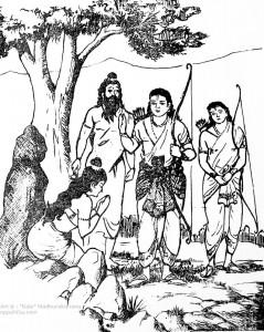ಅಹಲ್ಯೋದ್ಧಾರ      ಚಿತ್ರಃ ಮಧುರಕಾನನ ಬಾಲಣ್ಣ