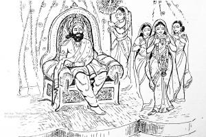 ಸೀತೆಯ ಸ್ವಯ೦ವರಕ್ಕೆ ಸಿದ್ಧತೆ     ಚಿತ್ರಃ ಮಧುರಕಾನನ ಬಾಲಣ್ಣ