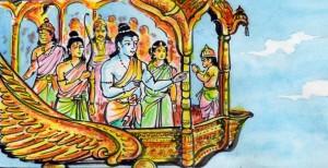 ಅಯೋಧ್ಯಾ ಗಮನ      ಚಿತ್ರಃ ಮಧುರಕಾನನ ಬಾಲಣ್ಣ